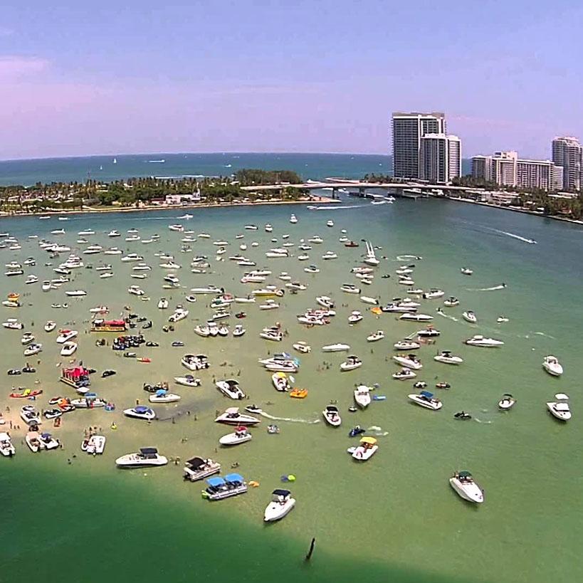 Haulover Sandbar Miami Boat Party